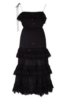 Кружевное мини-платье с оборками Zimmermann