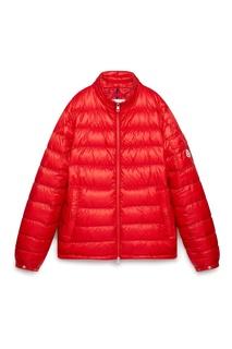 Красная стеганая куртка Moncler