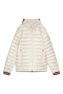 Белая стеганая куртка Moncler