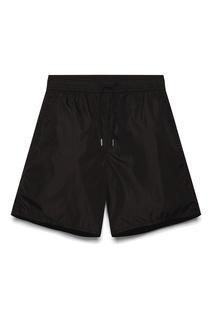 Черные шорты с эластичным поясом Moncler