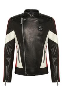 Куртка со скошенной молнией Philipp Plein
