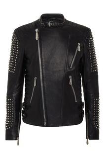 Черная куртка с шипами Philipp Plein