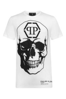 Белая футболка с логотипом Philipp Plein