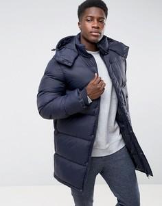 Дутая куртка с капюшоном French Connection - Темно-синий