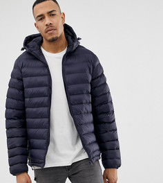 Дутая куртка с капюшоном French Connection TALL - Темно-синий