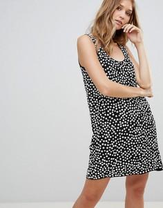 Свободное платье с принтом French Connection - Черный