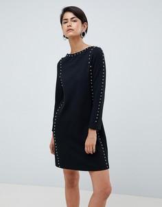 Платье А-силуэта со стразами French Connection - Черный