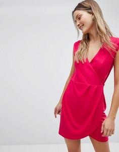 Платье с запахом French Connection - Красный