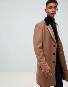 Премиум-пальто с добавлением шерсти и бархатным воротником French Connection - Рыжий