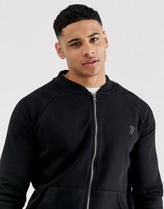 Бейсбольная куртка на молнии с логотипом French Connection - Черный
