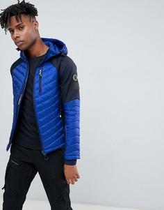 Синяя спортивная дутая куртка Superdry - Синий