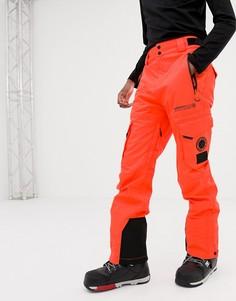 Оранжевые горнолыжные брюки Superdry Snow - Оранжевый