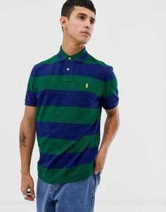 Поло из пике стандартного кроя Polo Ralph Lauren - Зеленый