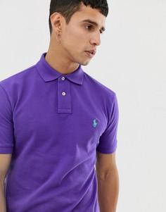 Фиолетовое поло зауженного кроя из ткани пике Polo Ralph Lauren - Фиолетовый