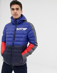 Синяя куртка колор блок Superdry Fuji - Синий