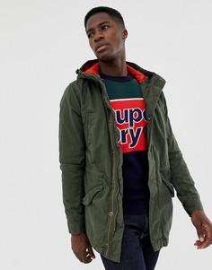 Зеленая куртка в стиле милитари Superdry new rookie - Зеленый
