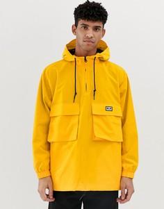 Желтая куртка-анорак со светоотражающим логотипом на спине Obey - Inlet - Желтый