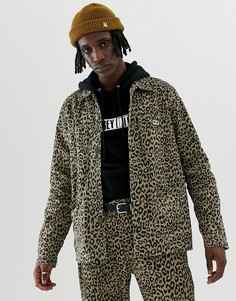 Куртка с леопардовым принтом Obey - Коричневый