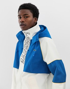 Белая куртка с логотипом Lacoste L!VE - Белый