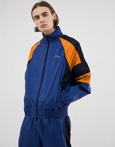 Темно-синяя спортивная куртка в стиле ретро Lacoste L!VE nylon - Темно-синий