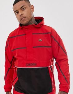 Красная куртка с логотипом и капюшоном Lacoste Sport - Красный