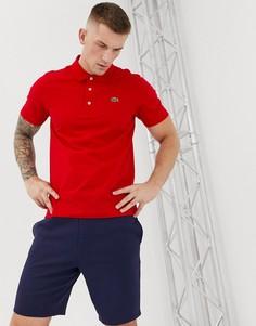 Темно-красное поло с логотипом Lacoste Sport - Красный