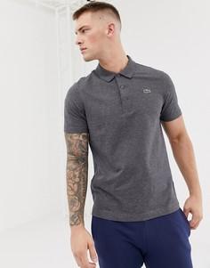 Поло темно-серого цвета с логотипом Lacoste Sport - Серый