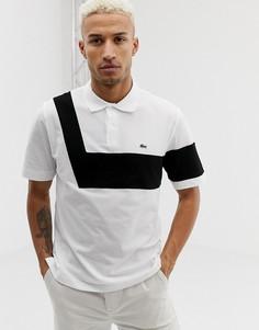 Хлопковая футболка-поло Lacoste 85th anniversary - Белый