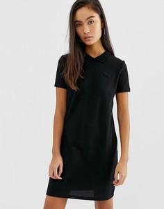 Платье-рубашка поло с логотипом Lacoste live - Черный