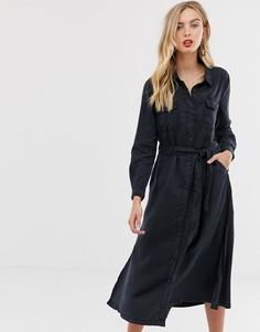 Платье-рубашка из лиоцелла French Connection Tandy - Темно-синий