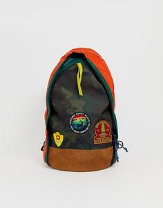 Рюкзак через плечо с одним ремешком и замшевой отделкой Polo Ralph Lauren - Мульти
