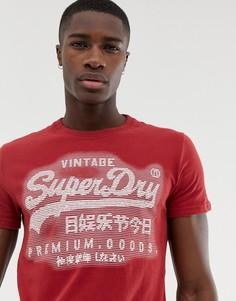 Красная футболка с тисненым логотипом Superdry - Красный