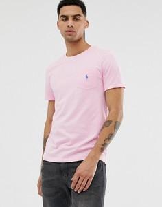 Розовая футболка с карманом и логотипом Polo Ralph Lauren - Розовый
