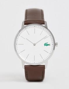 Часы с темно-коричневым кожаным ремешком Lacoste Moon - Коричневый