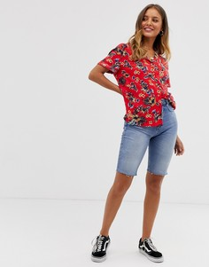 Длинные джинсовые шорты Superdry - Синий