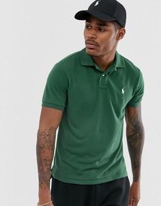 Поло темно-зеленого цвета из переработанного пике с логотипом Polo Ralph Lauren - Зеленый
