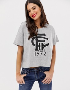Бейсбольная футболка с логотипом FCUK French Connection - Серый