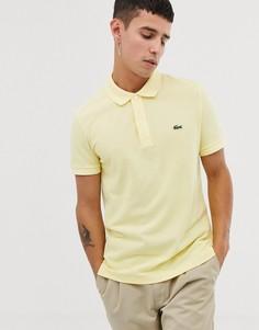 Желтое узкое поло с логотипом Lacoste - Желтый