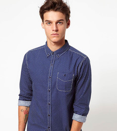 Рубашка в горошек Another Influence - Темно-синий