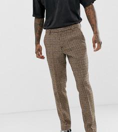Узкие темно-серые брюки из твида Харрис Heart & Dagger - Серый