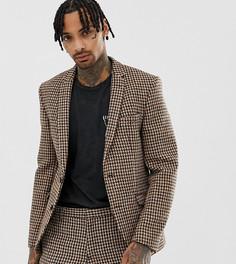 Темно-серый приталенный пиджак из твида Харрис Heart & Dagger - Серый