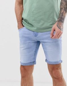 Синие джинсовые шорты Celio - Синий