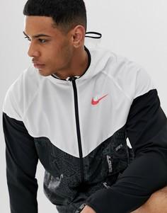 Черная куртка-ветровка Nike Running windrunner London Marathon - Черный