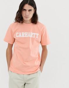Розовая футболка с короткими рукавами Carhartt WIP - Розовый