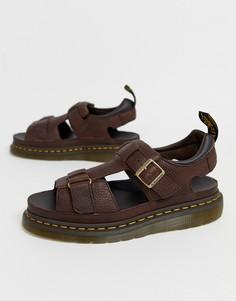 Темно-коричневые сандалии Dr Martens Hayden - Коричневый