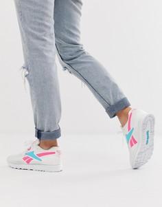 Сине-розовые кроссовки Reebok - Белый