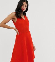Короткое приталенное платье без рукавов Y.A.S Tall - Красный