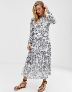 Платье миди с принтом пейсли Stevie May - Белый