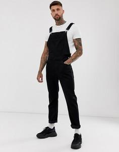 Черный джинсовый комбинезон из переработанного денима ASOS DESIGN - Черный