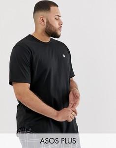 Удлиненная футболка с необработанным краем Le Breve Plus - Черный